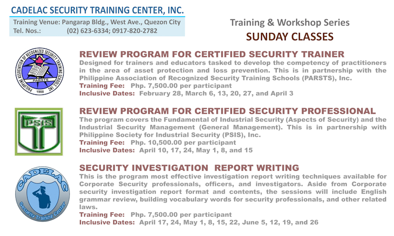 security report writing training